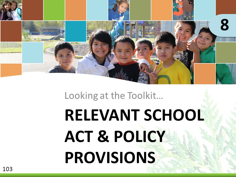 Relevant School Act & Policy Provisions