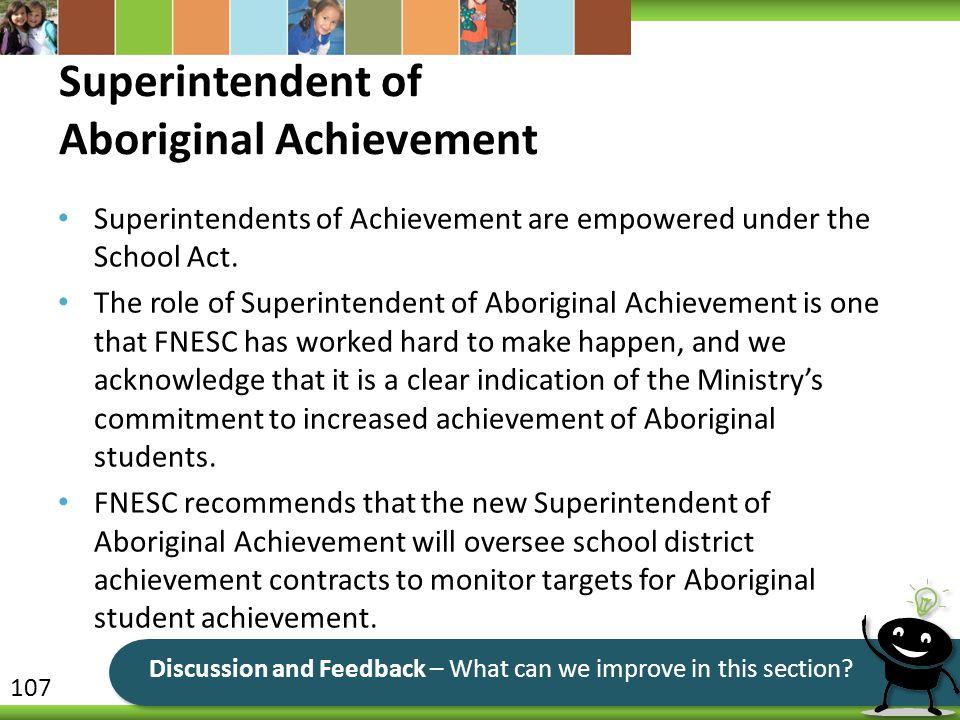 Superintendent of Aboriginal Achievement