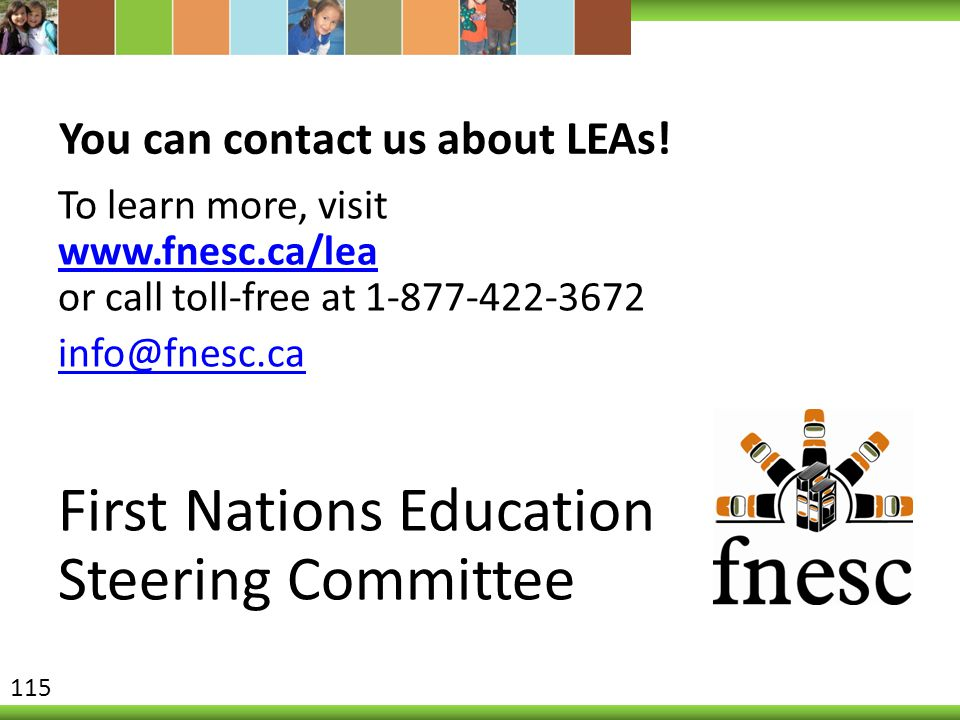 You can contact us about LEAs!