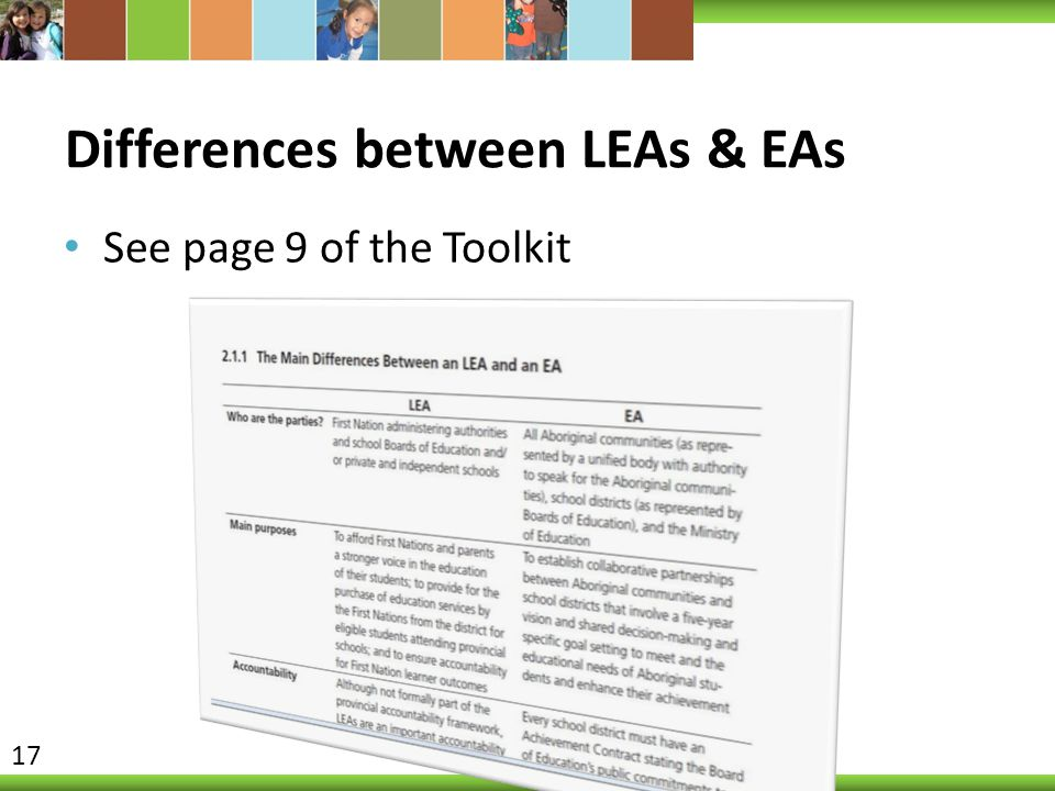 Differences between LEAs & EAs