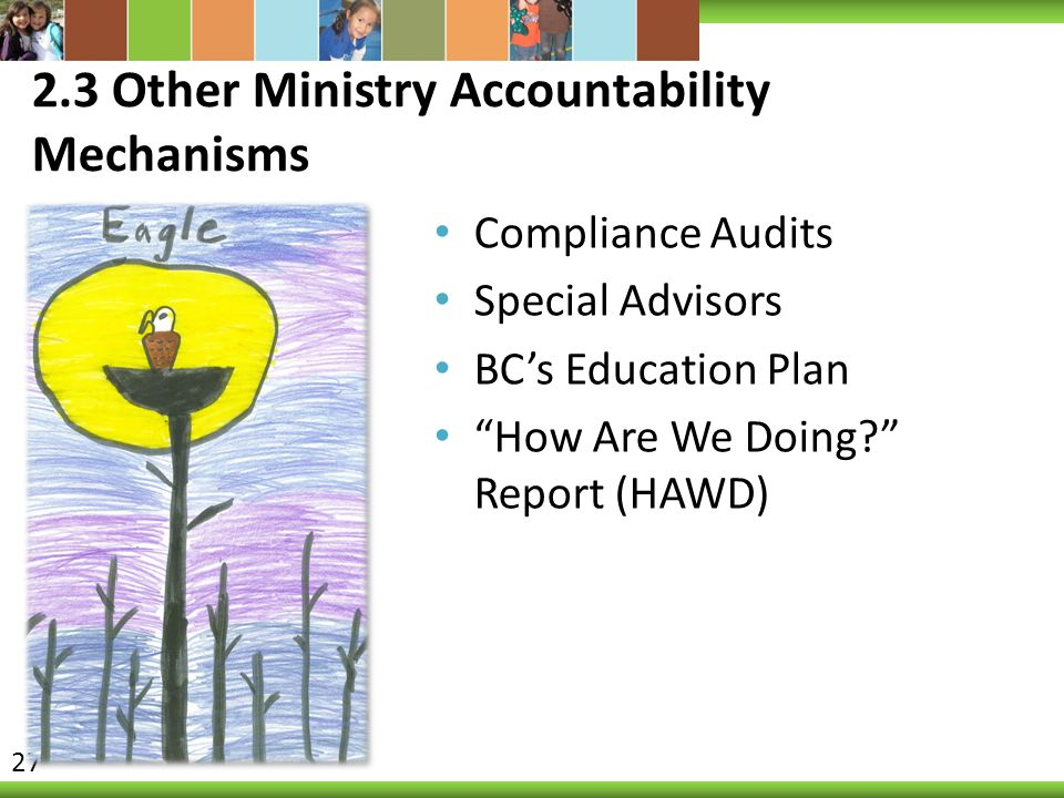 2.3 Other Ministry Accountability Mechanisms