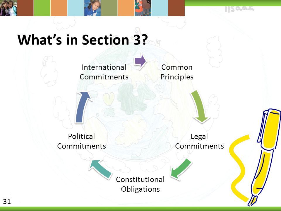 What's in Section 3 Common Principles Legal Commitments