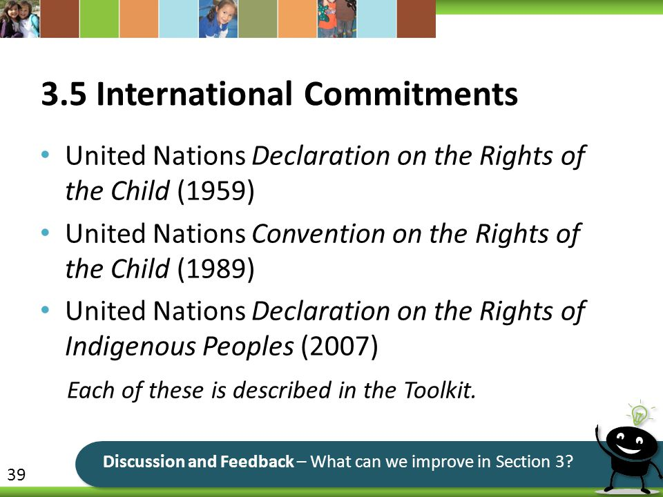 3.5 International Commitments