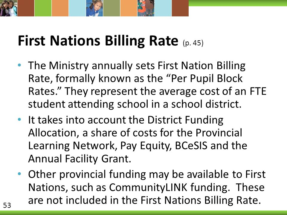 First Nations Billing Rate (p. 45)