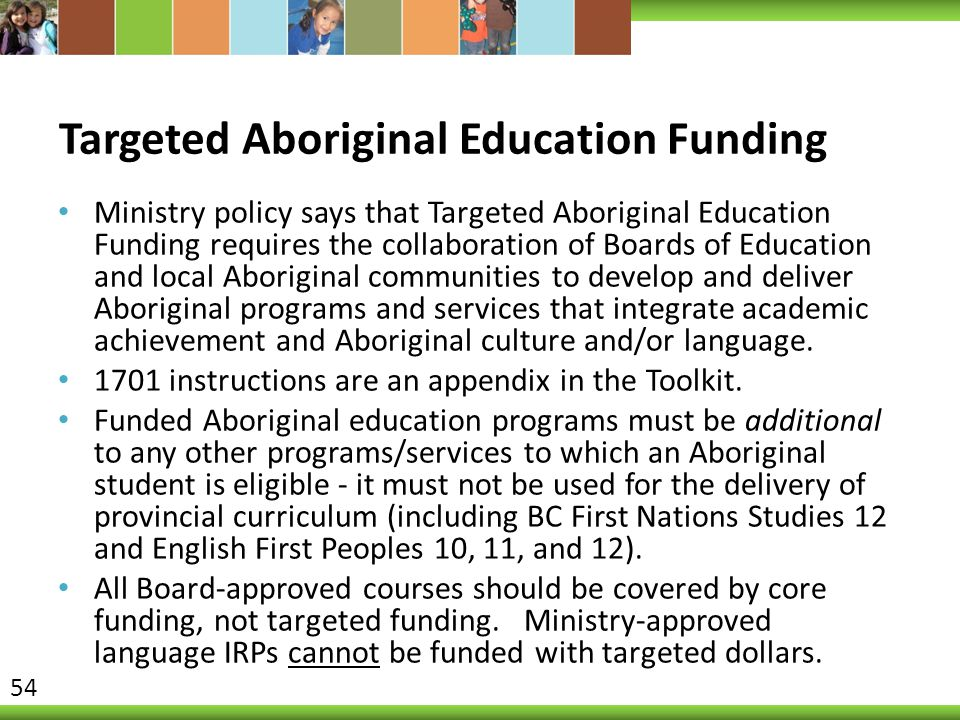 Targeted Aboriginal Education Funding