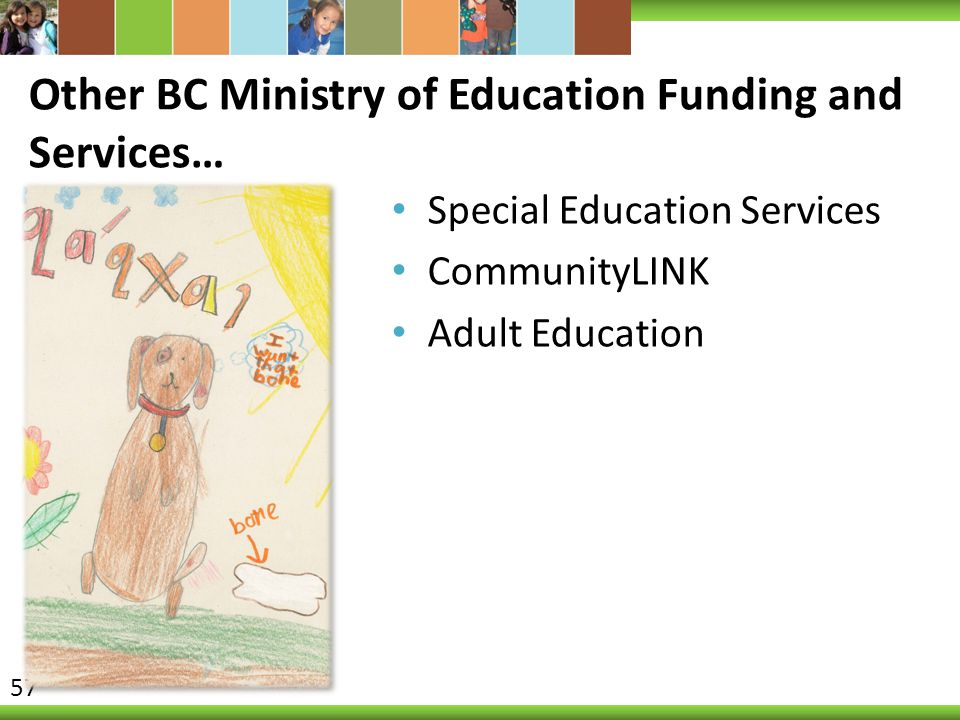 Other BC Ministry of Education Funding and Services…