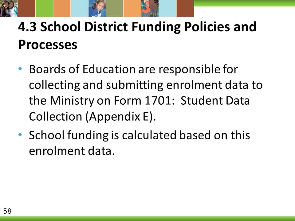 4.3 School District Funding Policies and Processes