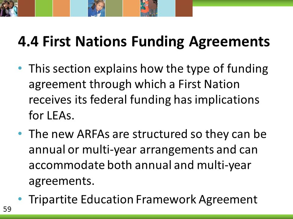 4.4 First Nations Funding Agreements