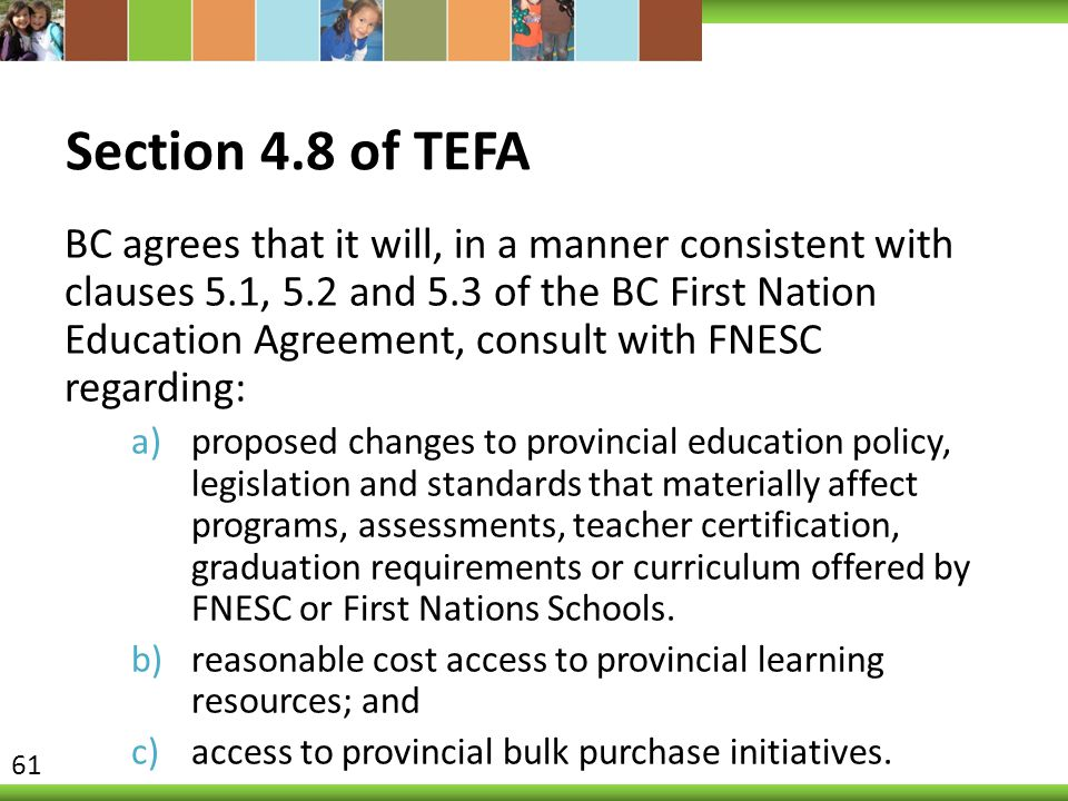 Section 4.8 of TEFA