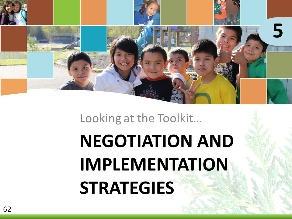 Negotiation and Implementation Strategies