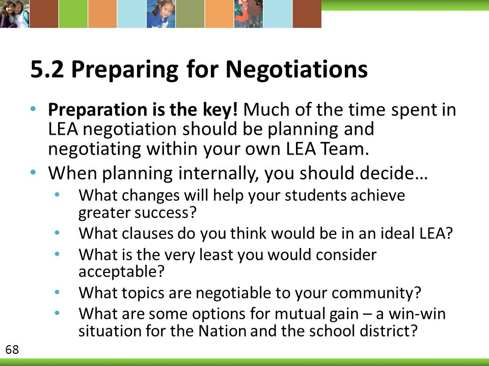 5.2 Preparing for Negotiations
