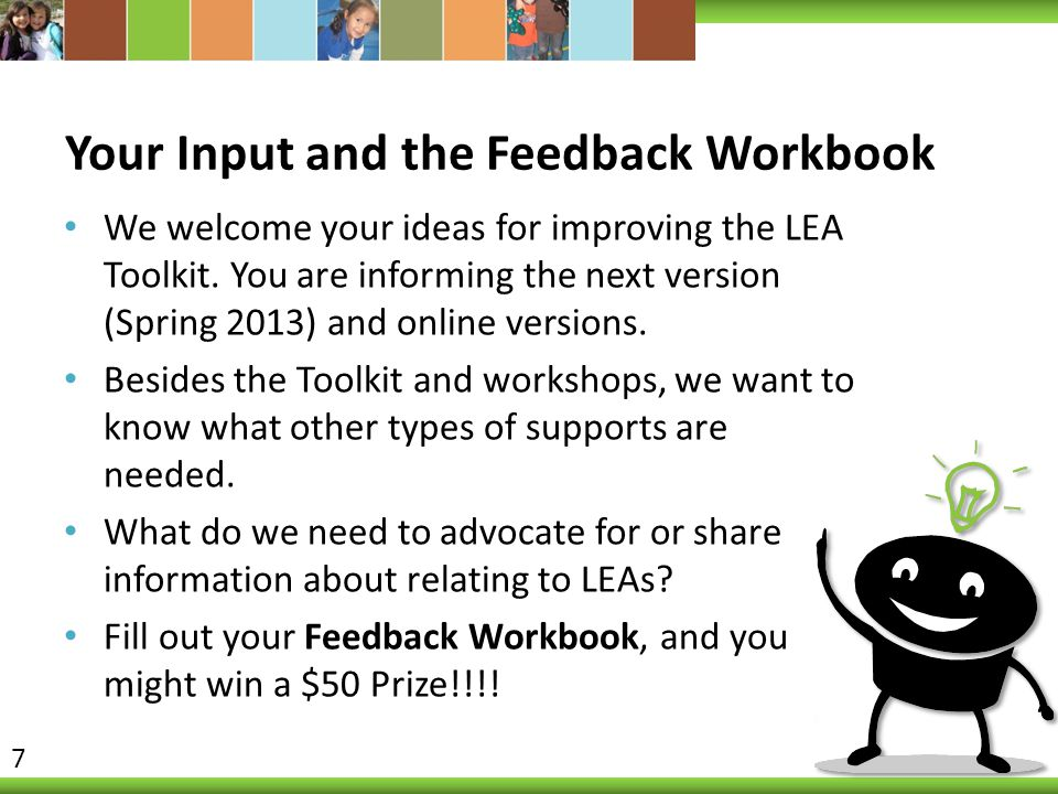 Your Input and the Feedback Workbook
