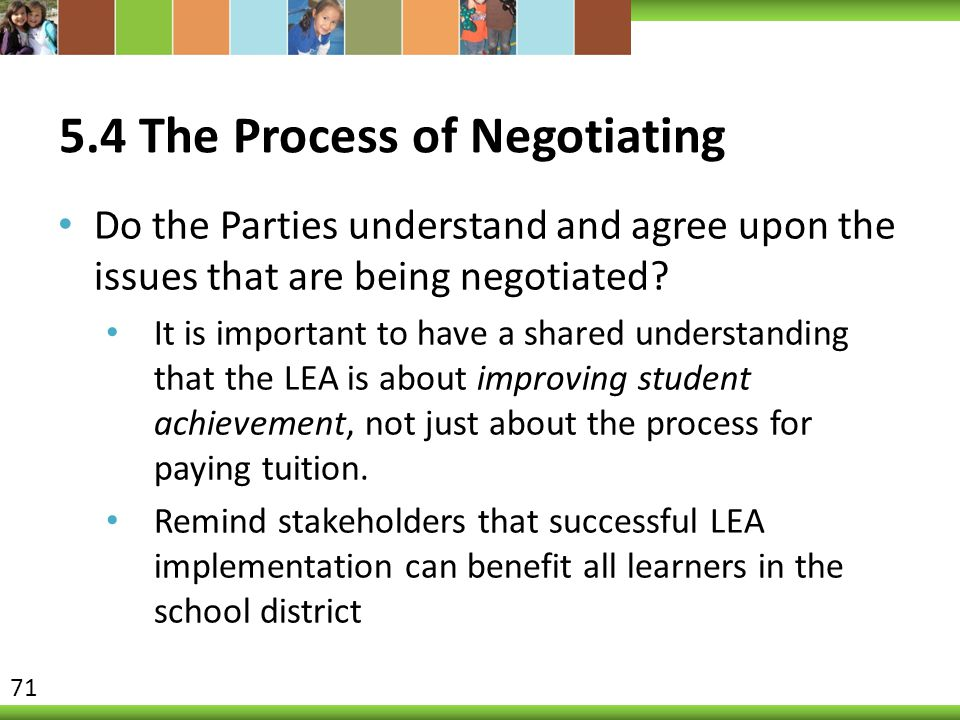 5.4 The Process of Negotiating