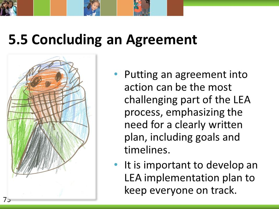 5.5 Concluding an Agreement