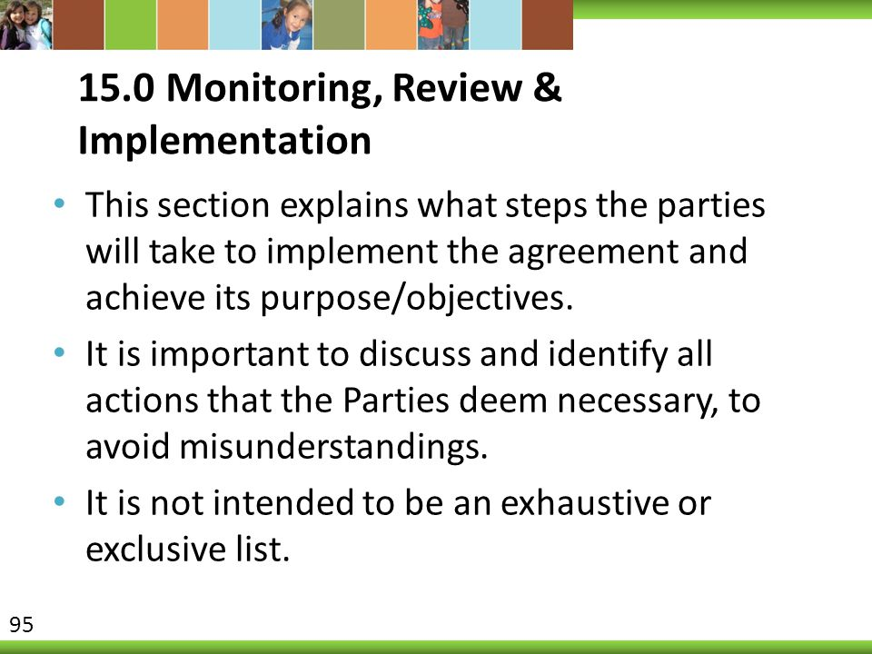 15.0 Monitoring, Review & Implementation