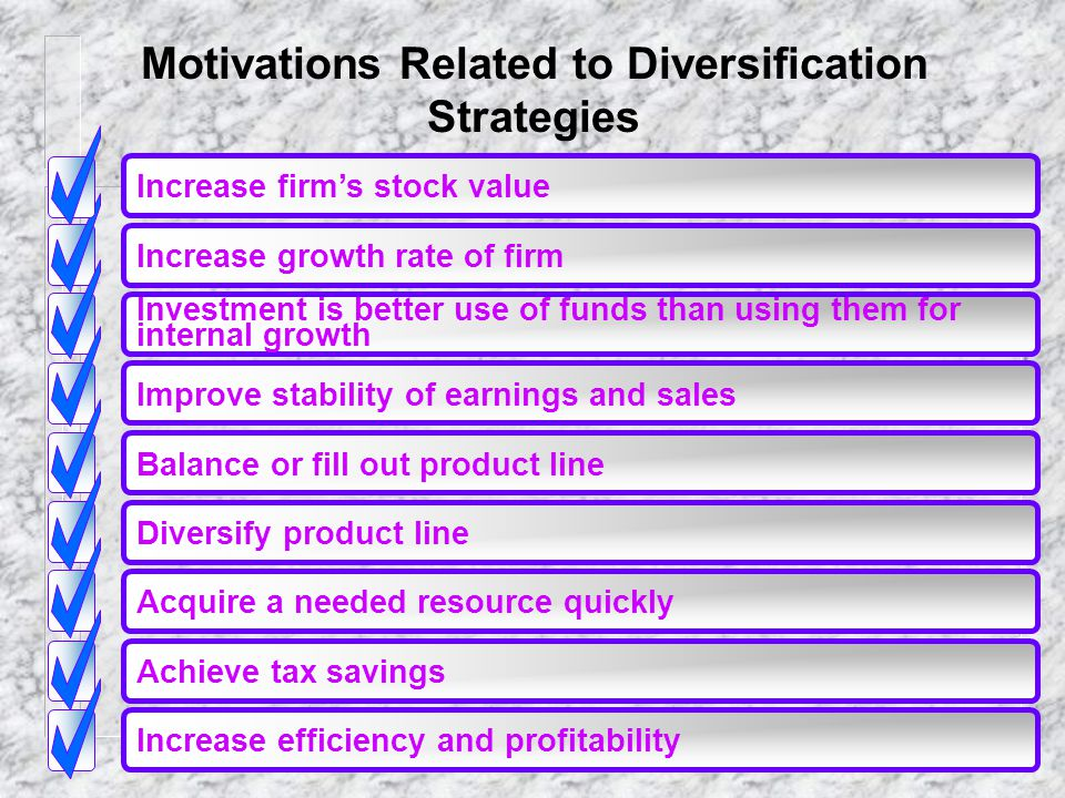 Motivations Related to Diversification Strategies