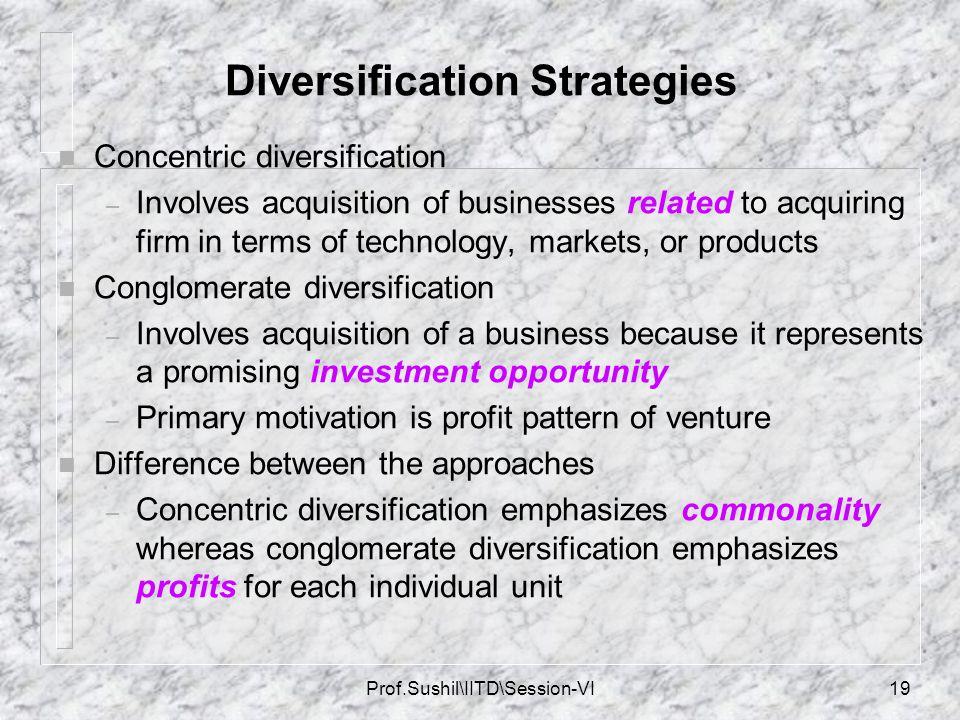 Diversification Strategies