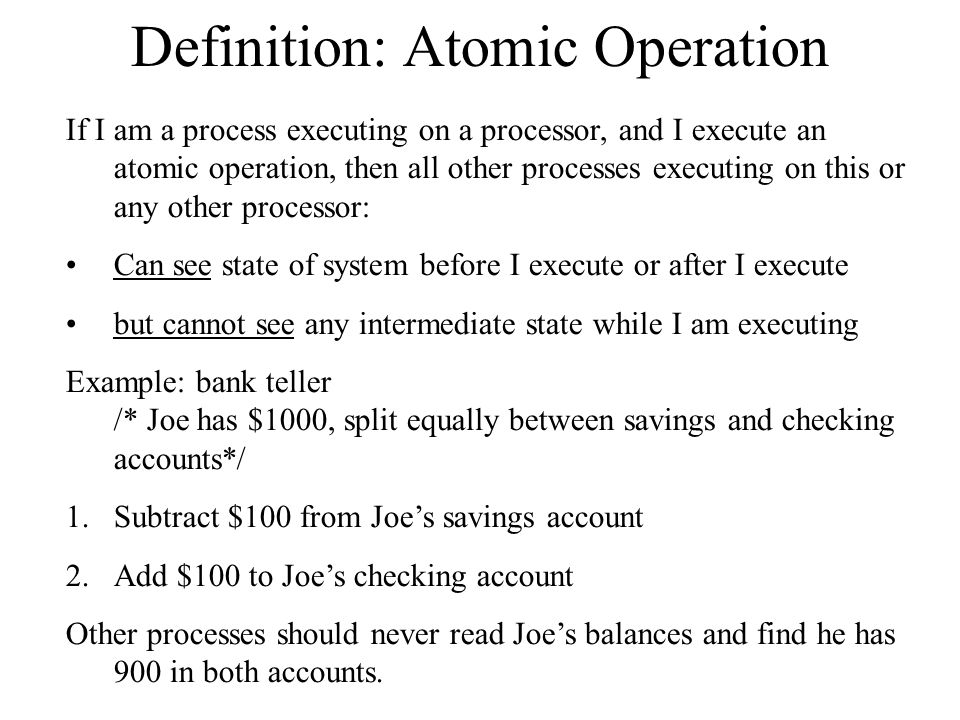 Definition: Atomic Operation