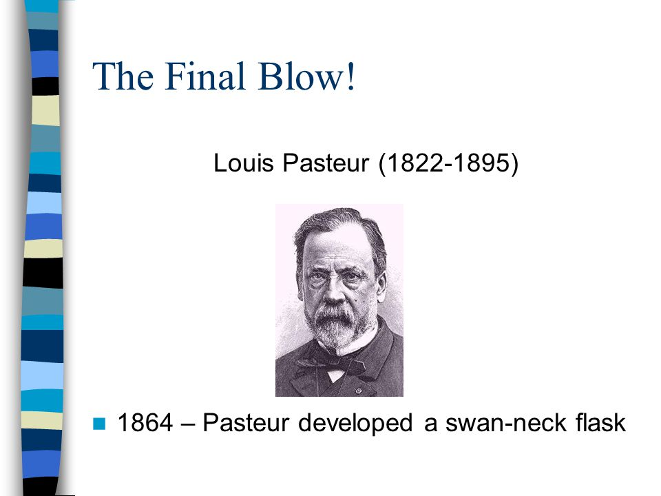 The Final Blow! Louis Pasteur (1822-1895)