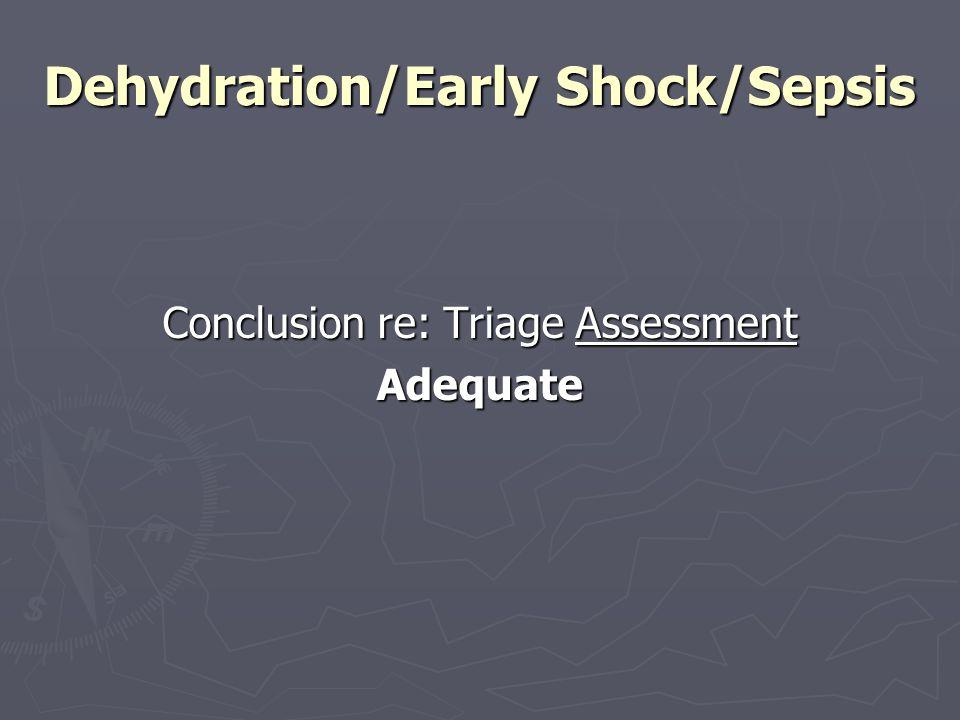 Dehydration/Early Shock/Sepsis