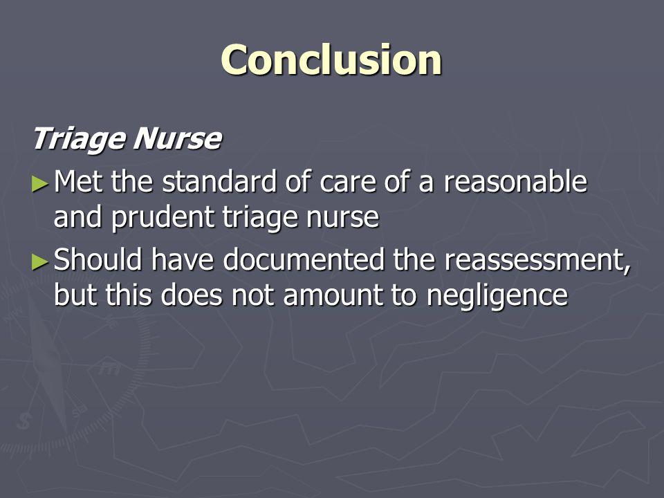 Conclusion Triage Nurse