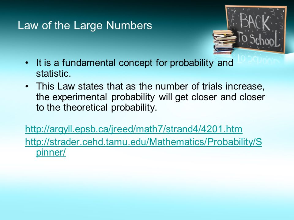 Law of the Large Numbers