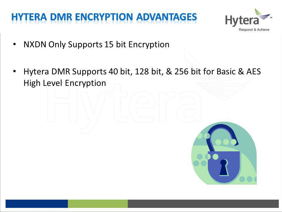 Hytera DMR Encryption Advantages