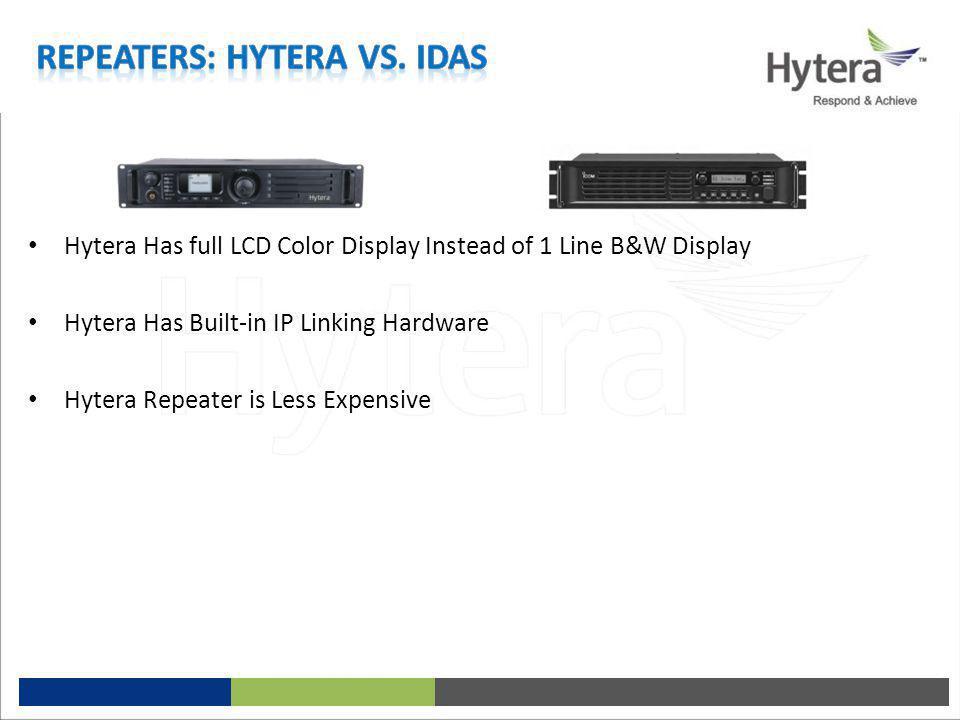 Repeaters: Hytera vs. iDAS