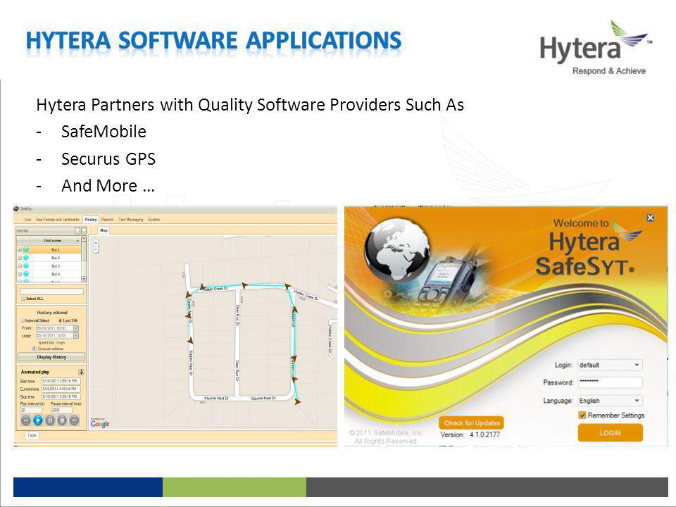 Hytera Software Applications