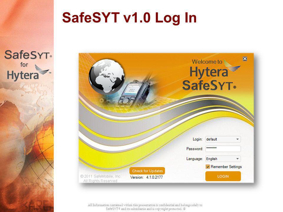SafeSYT v1.0 Log In for
