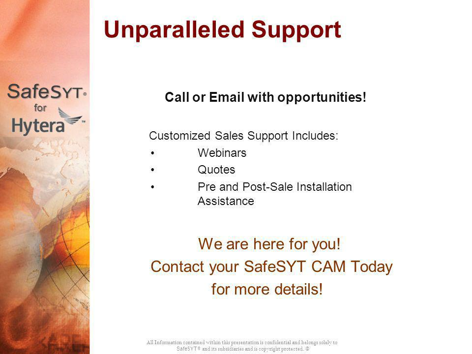 Call or Email with opportunities!