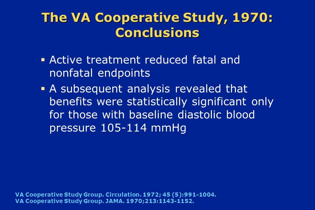 The VA Cooperative Study, 1970: Conclusions