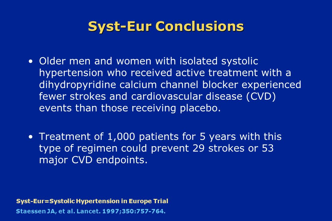 Syst-Eur Conclusions