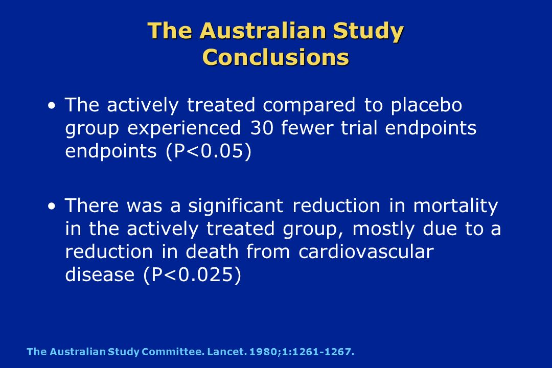 The Australian Study Conclusions