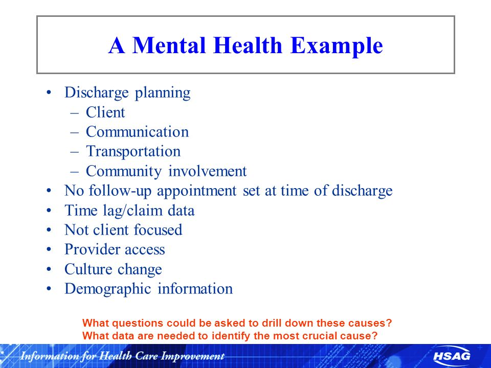A Mental Health Example