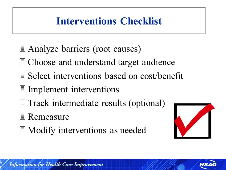 Interventions Checklist