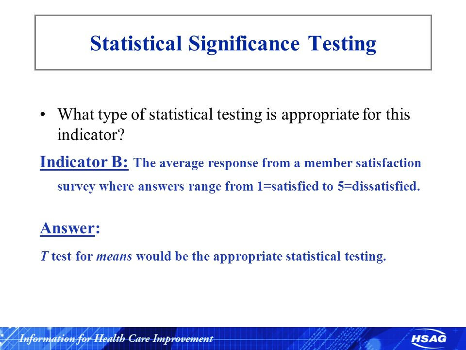 Statistical Significance Testing
