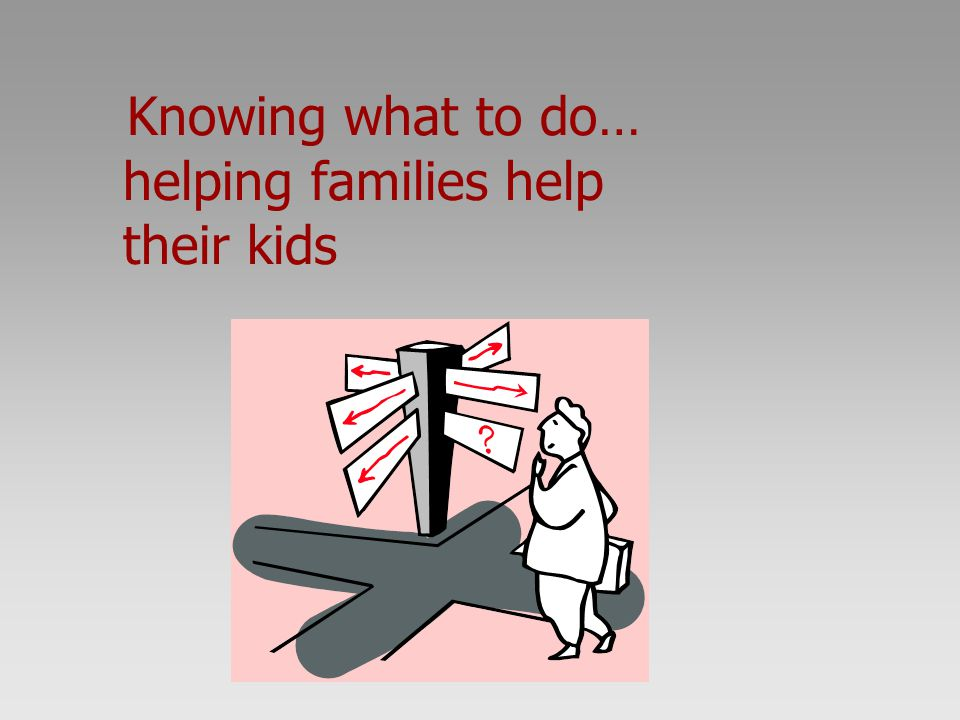 Knowing what to do… helping families help their kids