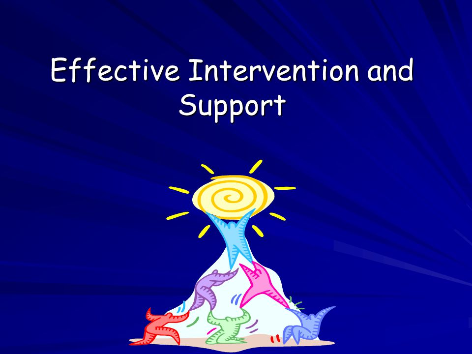 Effective Intervention and Support