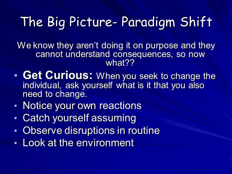 The Big Picture- Paradigm Shift
