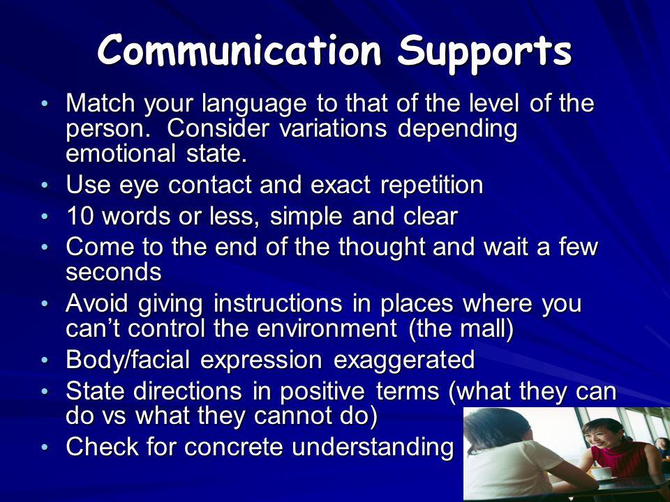 Communication Supports