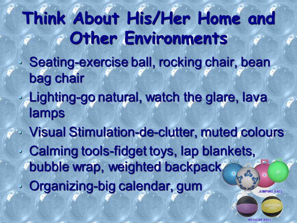 Think About His/Her Home and Other Environments