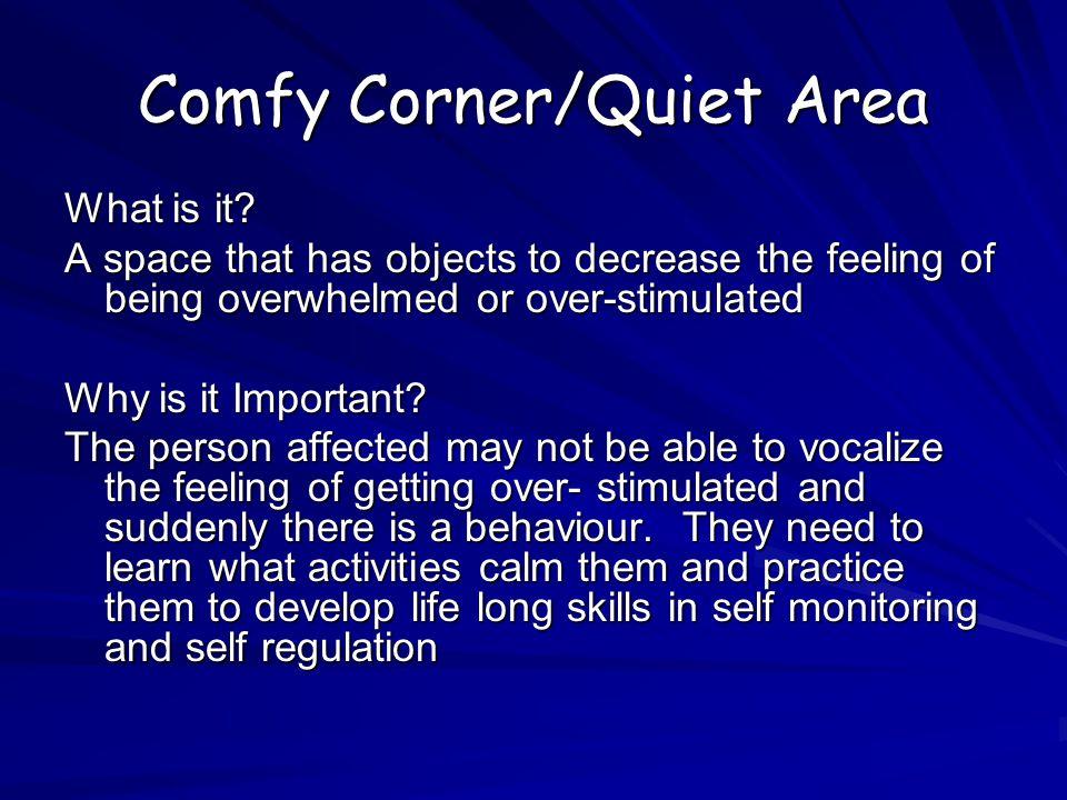 Comfy Corner/Quiet Area