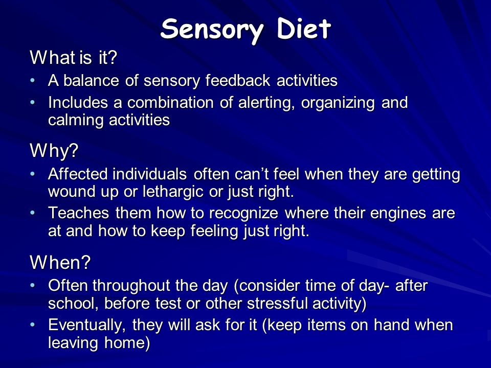 Sensory Diet What is it Why When
