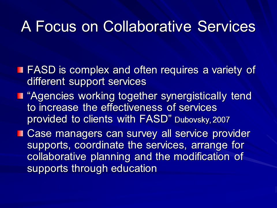 A Focus on Collaborative Services
