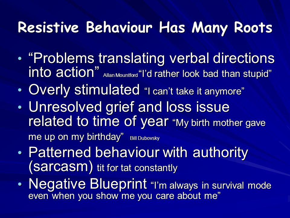 Resistive Behaviour Has Many Roots