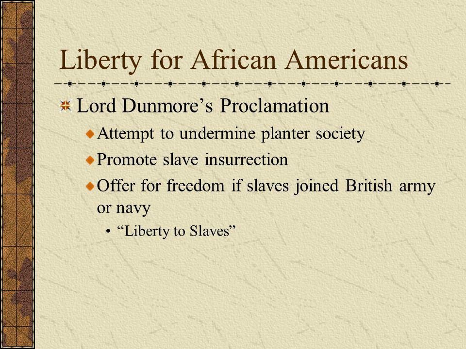 Liberty for African Americans