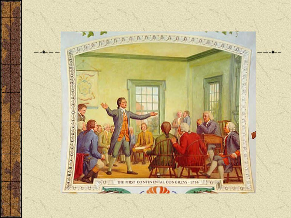 Delegates from all thirteen colonies met in 1774 in Philadelphia to discuss responses to increased British oppression.