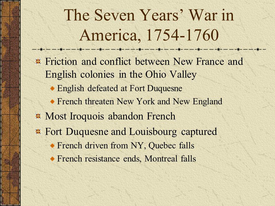 The Seven Years' War in America, 1754-1760