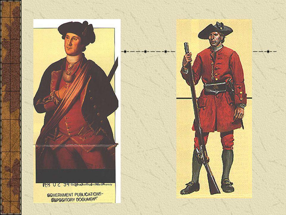 COL George Washington and a Virginia militiaman